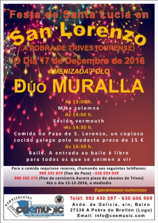trives festas stalucia2016