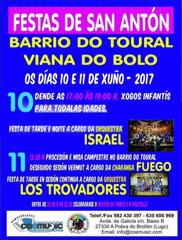 coemusic festas san anton toural viana bolo 2017