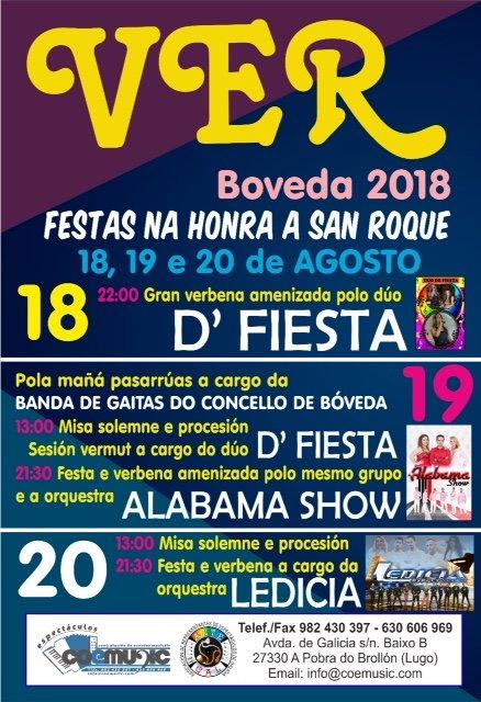coemusic festas san roque 2018 ver boveda
