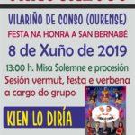 coemusic festas 2019 san bernabe chaguazoso vilariño conso