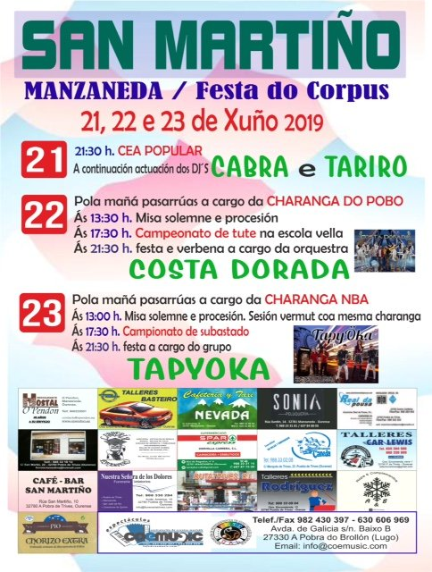 coemusic festas corpus christi 2019 san martino manzaneda