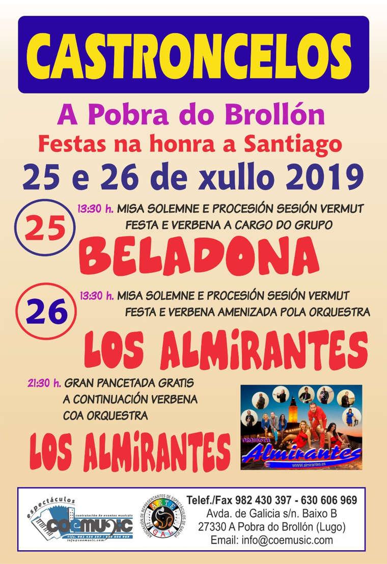 coemusic festas santiago apostol 2019 castroncelos pobra brollon