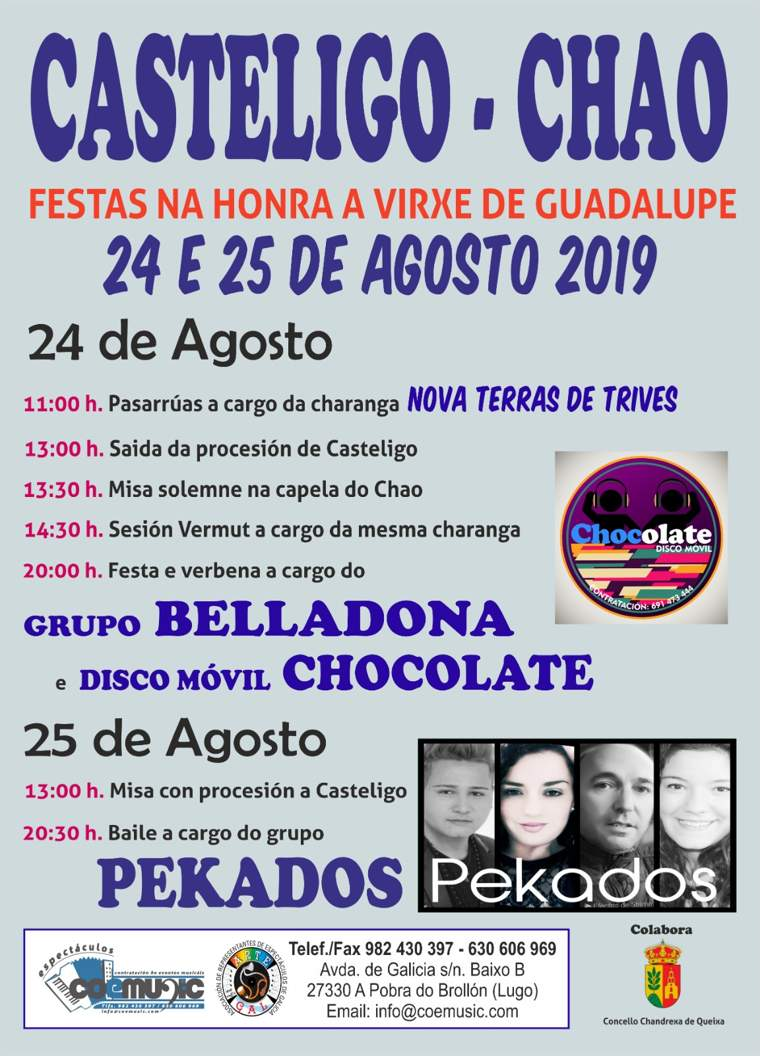 coemusic festas 2019 virxe guadalupe casteligo chao