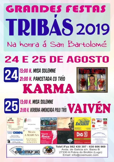 coemusic festas 2019 san bartolome tribas