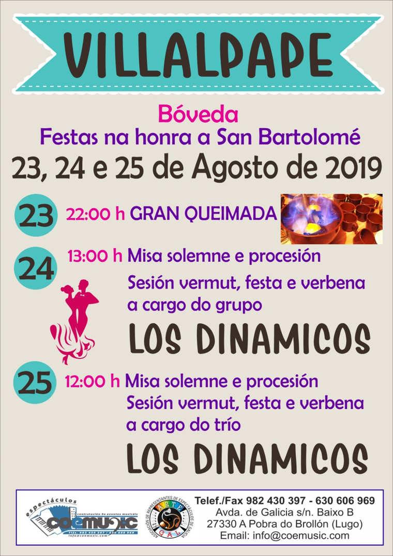 coemusic festas 2019 san bartolome villalpape